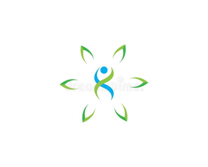 Plantilla humana sana del logotipo del icono del vector ilustración del vector