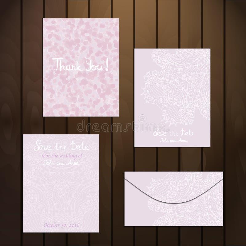 Plantilla imprimible de la invitación de la boda libre illustration