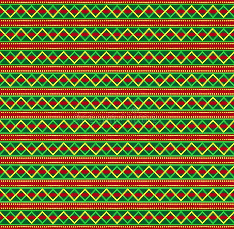 Plantilla inconsútil de la Navidad linda o del Año Nuevo con la raya del zigzag stock de ilustración