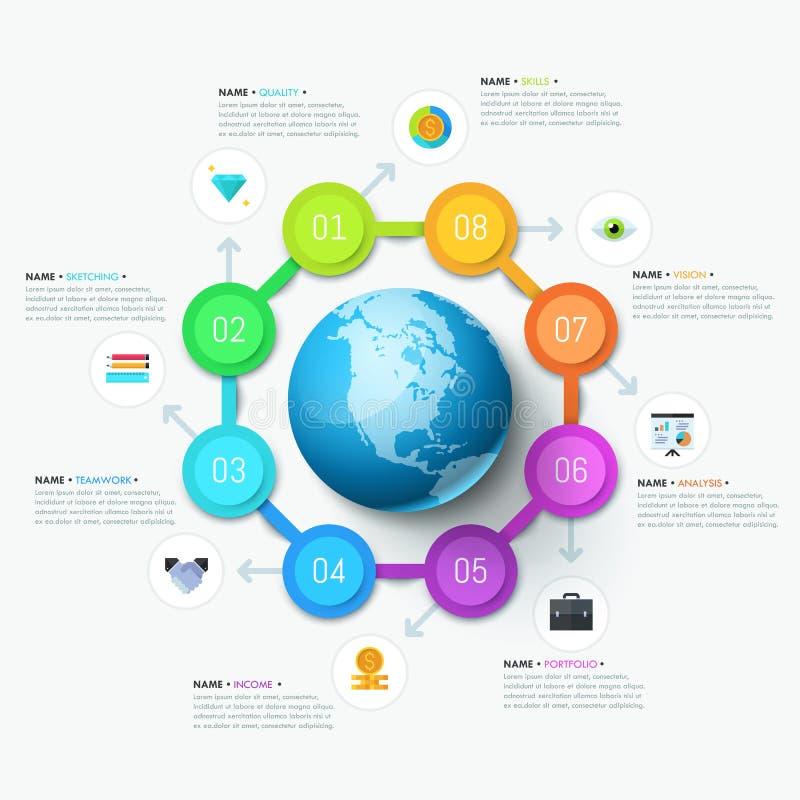 Plantilla infographic única del diseño stock de ilustración