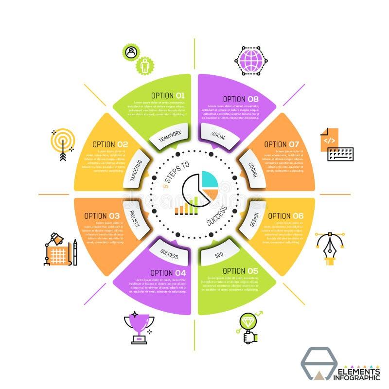 Plantilla Infographic única Del Diseño, Diagrama Circular O Gráfico ...