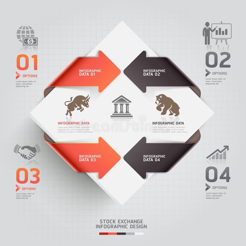Plantilla infographic abstracta de la bolsa de acción. libre illustration
