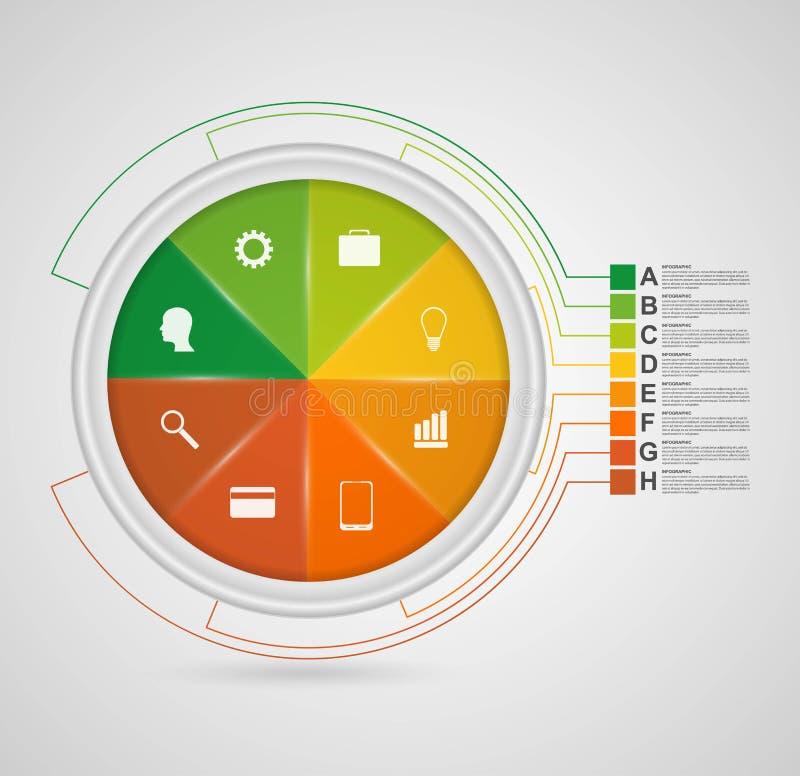 Plantilla infographic abstracta del diseño del círculo de color libre illustration