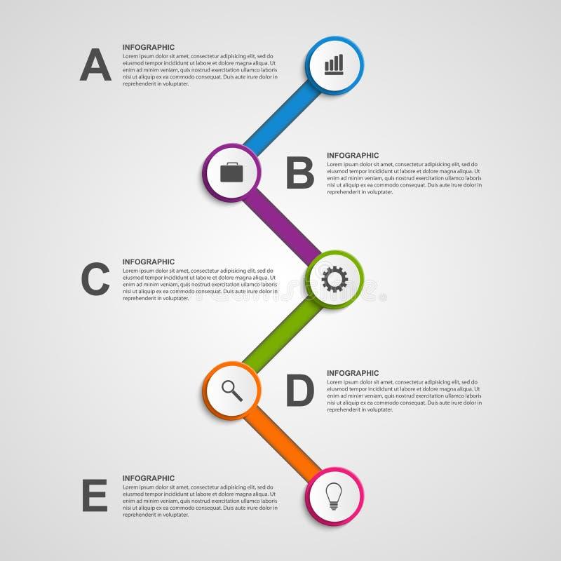 Plantilla infographic abstracta del diseño del círculo de color ilustración del vector