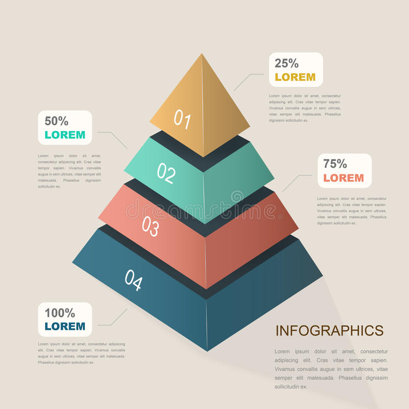 Plantilla infographic atractiva stock de ilustración