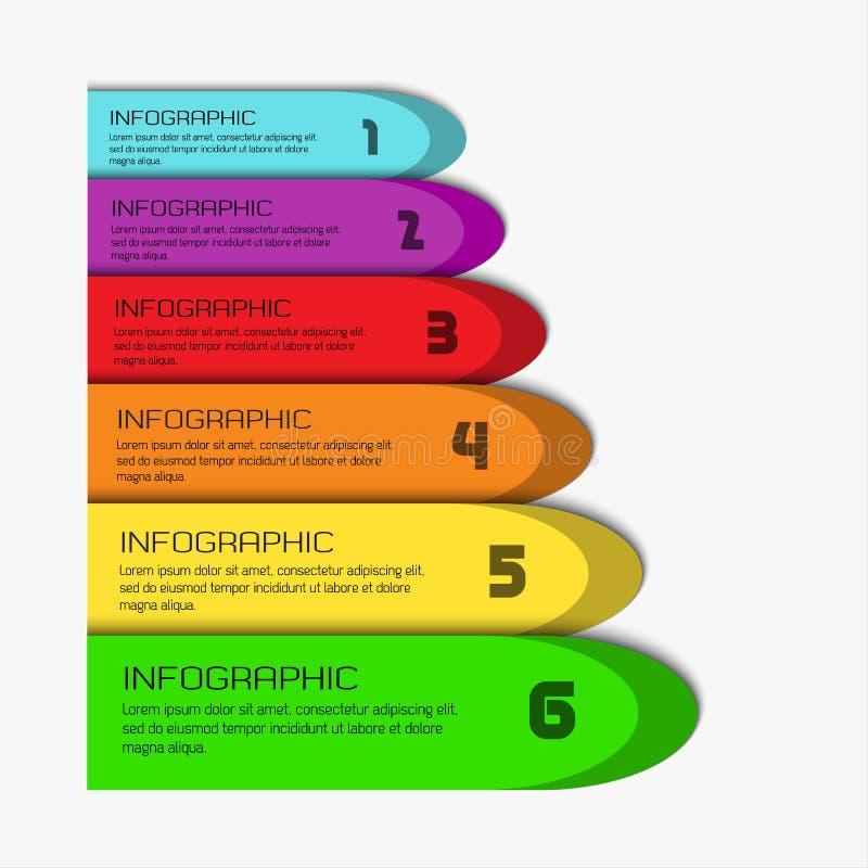 Plantilla infographic colorida libre illustration