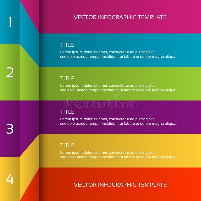 Plantilla infographic colorida moderna 3D stock de ilustración