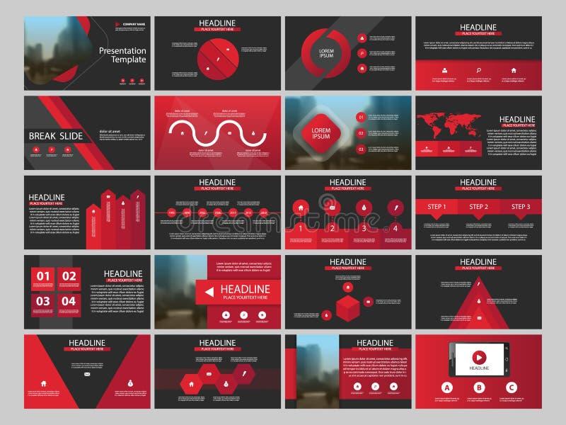 Plantilla infographic de la presentación de 20 elementos del paquete informe anual del negocio, folleto, prospecto, aviador de pu ilustración del vector