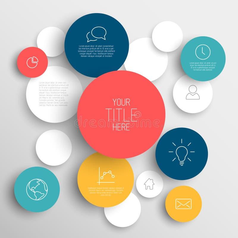Plantilla infographic de los círculos abstractos del vector libre illustration