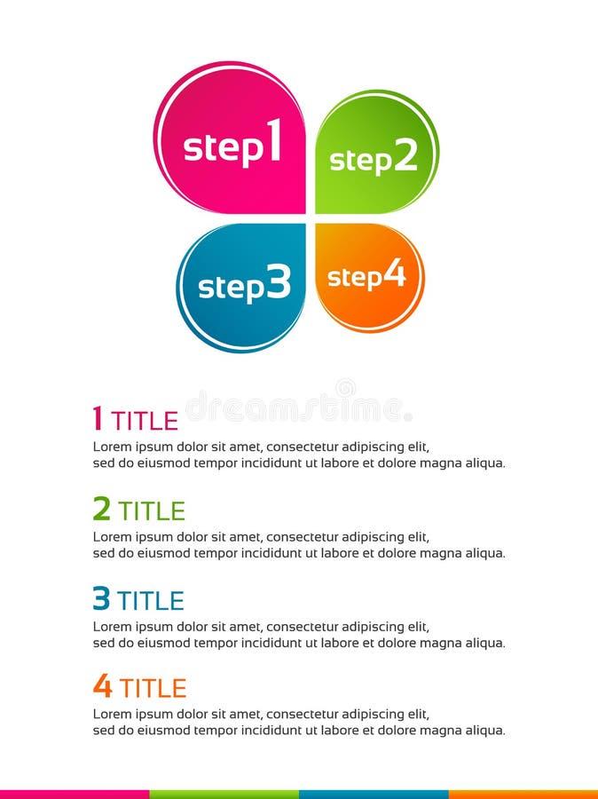 Plantilla infographic de Minimalistic con el trébol coloreado de la hoja libre illustration