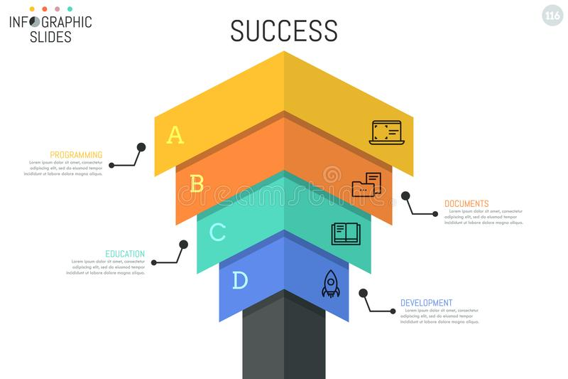 Plantilla infographic del diseño de la flecha libre illustration