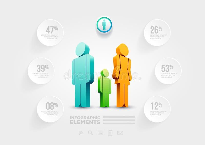 Plantilla infographic del diseño de la gente stock de ilustración