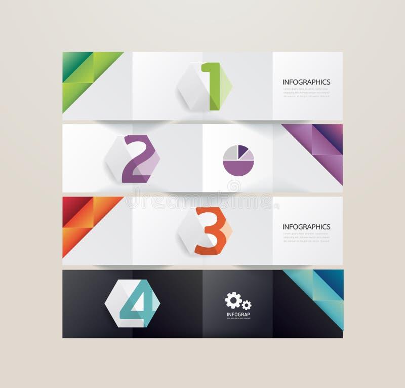 Plantilla infographic del estilo mínimo del diseño moderno stock de ilustración