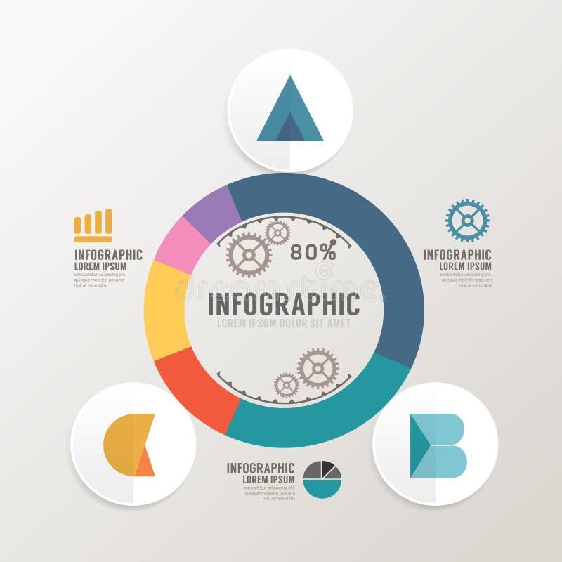 Plantilla infographic del estilo mínimo del diseño moderno con alfabeto libre illustration