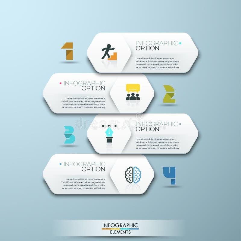 Plantilla infographic del estilo mínimo del diseño moderno con números ilustración del vector
