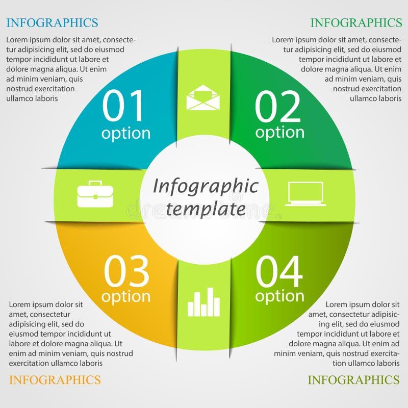 Plantilla infographic del gráfico de sectores stock de ilustración