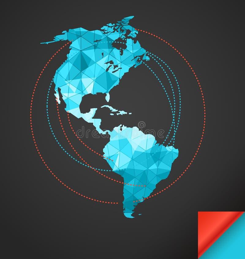 Plantilla infographic del mapa del mundo ilustración del vector
