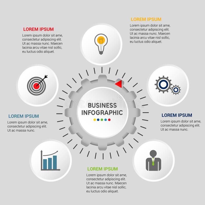 Plantilla infographic del negocio stock de ilustración