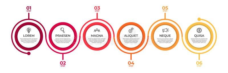 Plantilla infographic del negocio Concepto de la cronolog?a para la visualizaci?n infographic y de negocio de los datos de la pre ilustración del vector