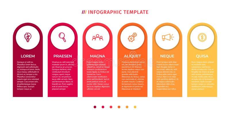 Plantilla infographic del negocio Concepto de la cronolog?a para la visualizaci?n infographic y de negocio de los datos de la pre stock de ilustración