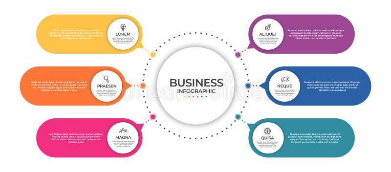 Plantilla infographic del negocio Concepto de la cronolog?a para la visualizaci?n infographic y de negocio de los datos de la pre libre illustration