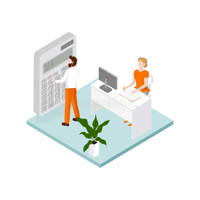 Plantilla infographic del negocio isométrico libre illustration