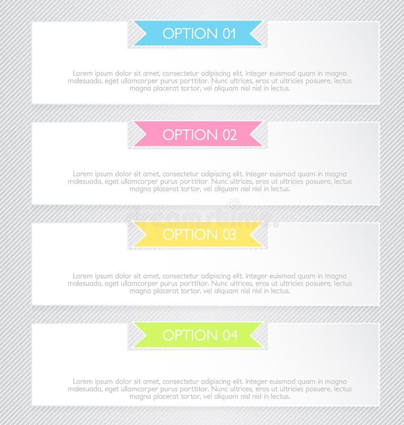 Plantilla infographic del negocio para la presentación, educación, diseño web, bandera, folleto, aviador libre illustration
