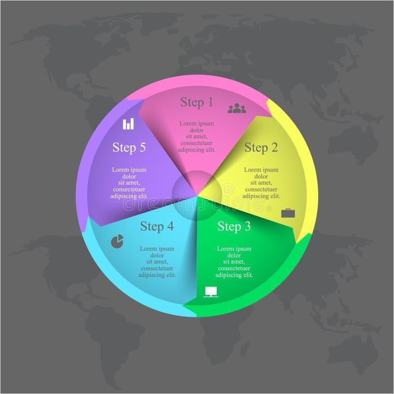 Plantilla infographic del vector ilustración del vector