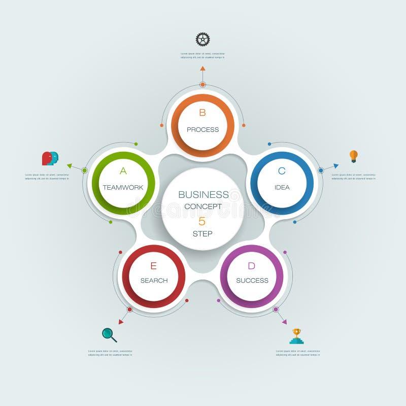 Plantilla infographic del vector Concepto del negocio con opciones ilustración del vector