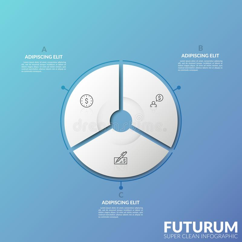 Plantilla infographic moderna del diseño ilustración del vector