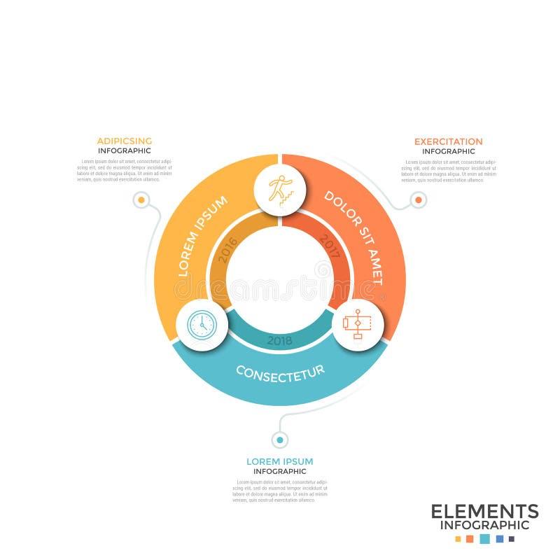 Plantilla infographic moderna stock de ilustración