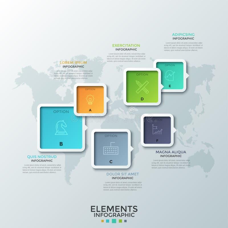 Plantilla infographic moderna libre illustration
