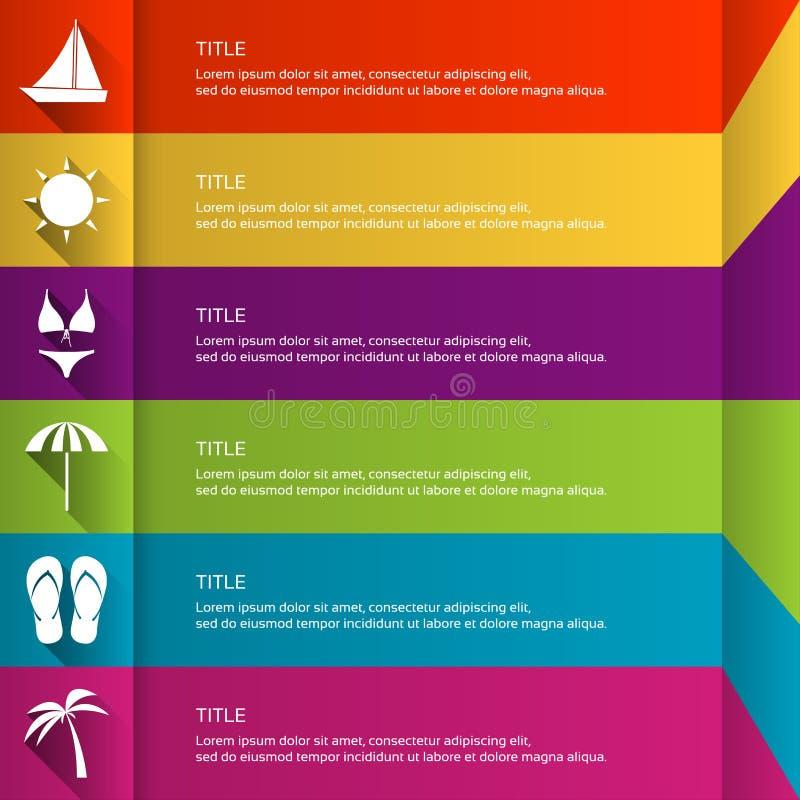 Plantilla infographic plana moderna con los iconos del día de fiesta ilustración del vector