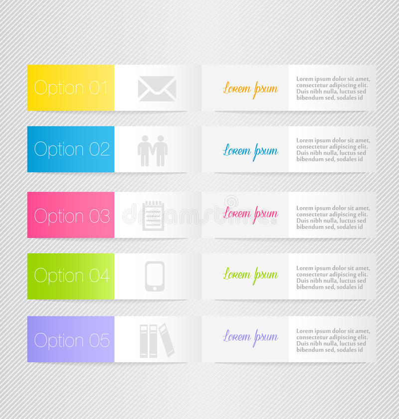 Plantilla inforgraphic moderna Puede ser utilizado para las banderas, plantillas del sitio web y los diseños, carteles infographi stock de ilustración