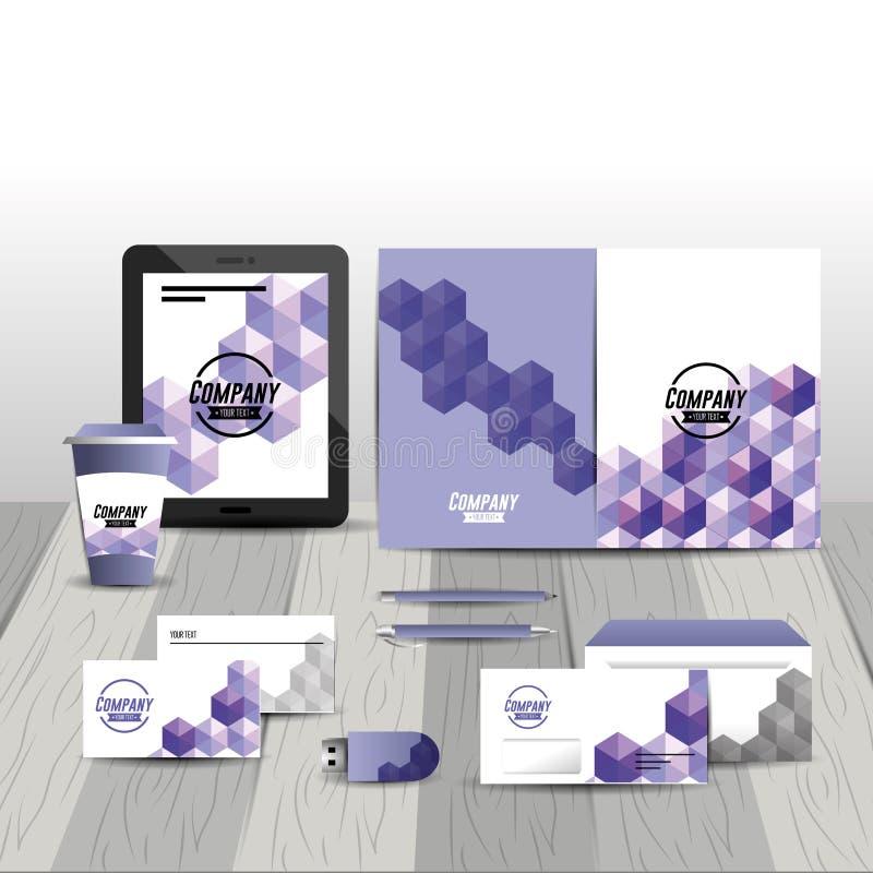 Plantilla inmóvil del negocio con el activo de compañía ilustración del vector