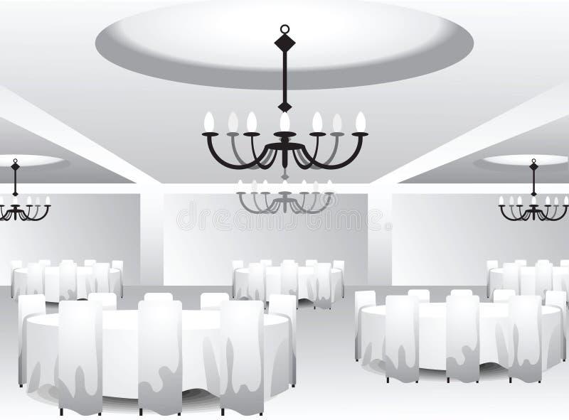 Plantilla interior para el diseño del evento ilustración del vector