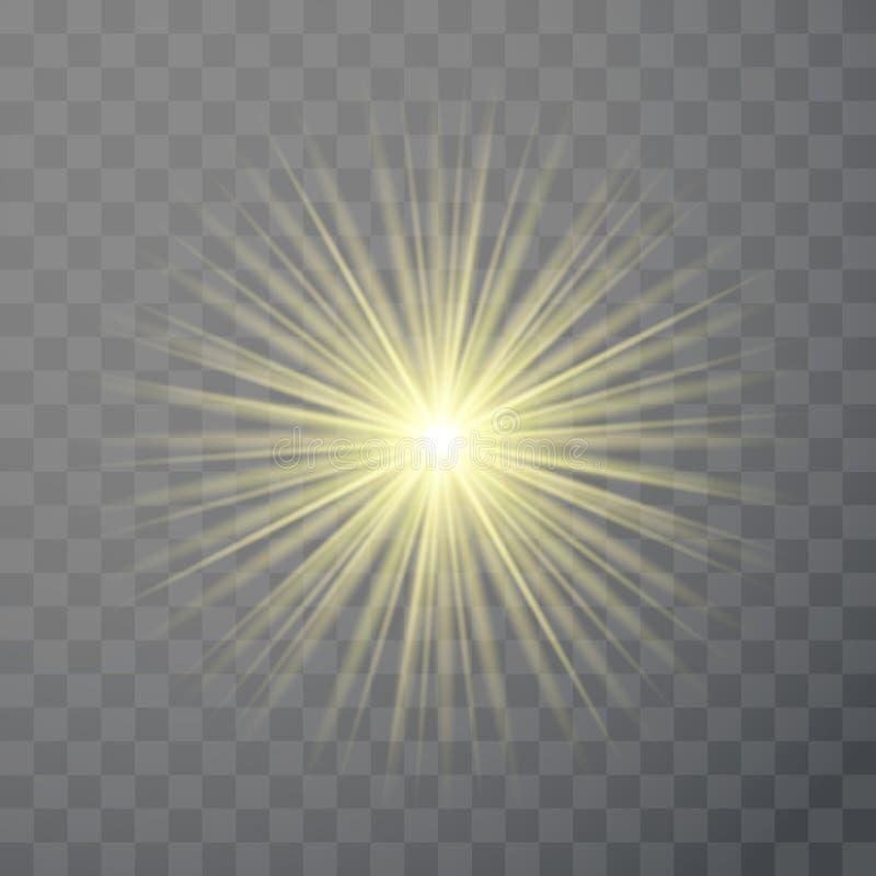 Plantilla ligera brillante del efecto del flash de la llamarada ilustración del vector