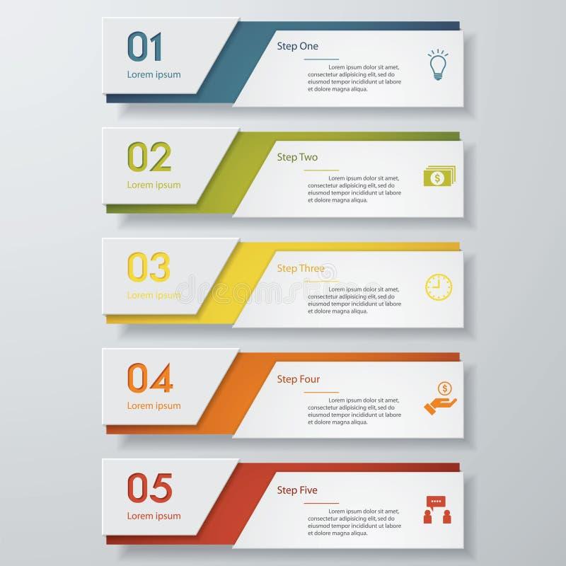 Plantilla limpia de las banderas del número del diseño Vector libre illustration