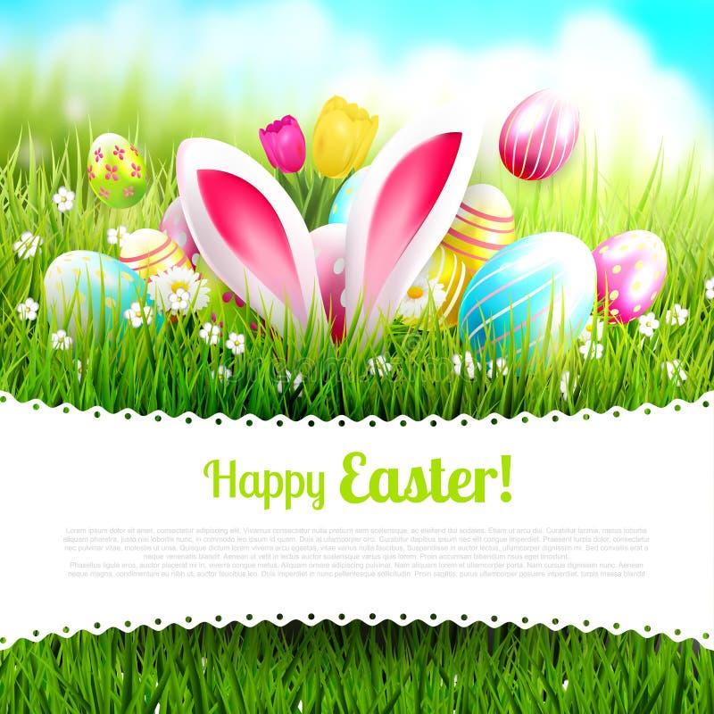 Plantilla linda de Pascua stock de ilustración