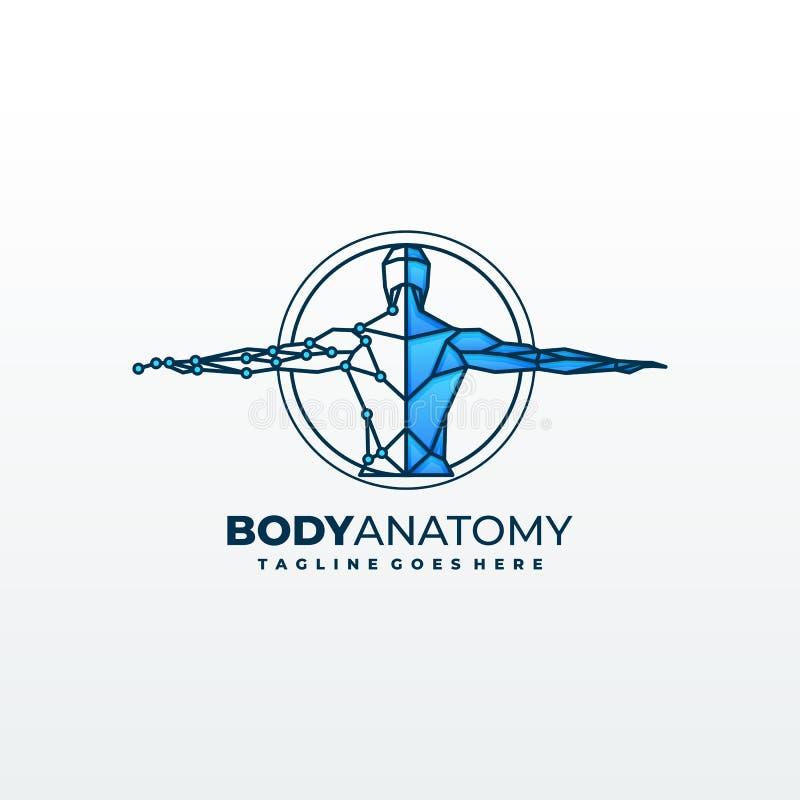 Plantilla médica del símbolo de los diagnósticos de la anatomía ilustración del vector