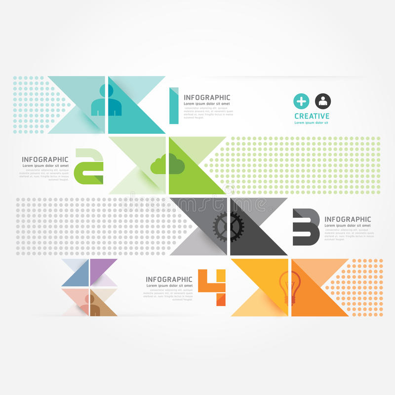 Plantilla mínima del gráfico de la información del estilo del diseño moderno. stock de ilustración