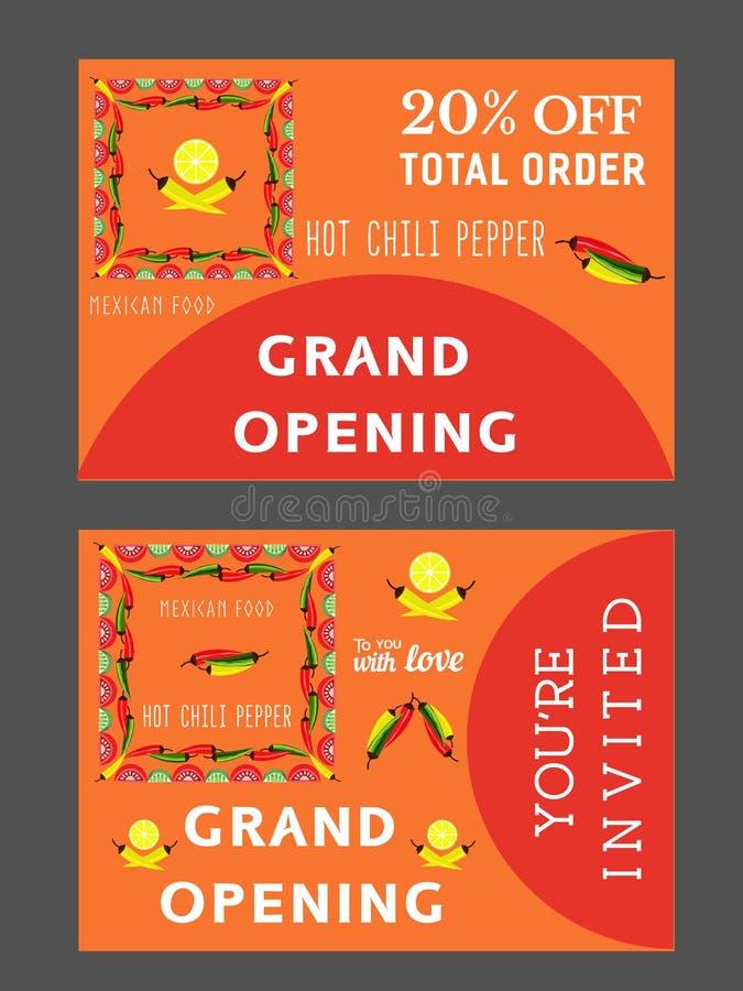 Plantilla Mexicana Del Restaurante Ilustración Del Vector