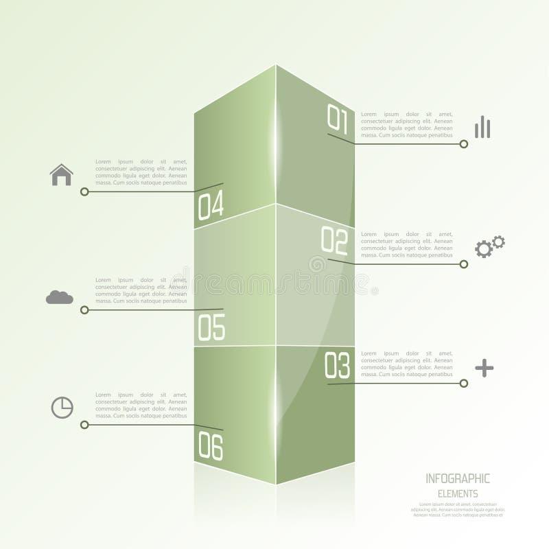 Plantilla moderna bajo la forma de caja ilustración del vector