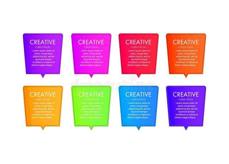 Plantilla moderna creativa de los elementos del diseño web Elementos con la navegación, botones, iconos, bloques de la web libre illustration