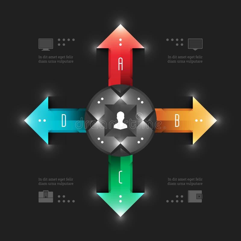 Plantilla moderna de Infographics del vector. Negocio Arro ilustración del vector