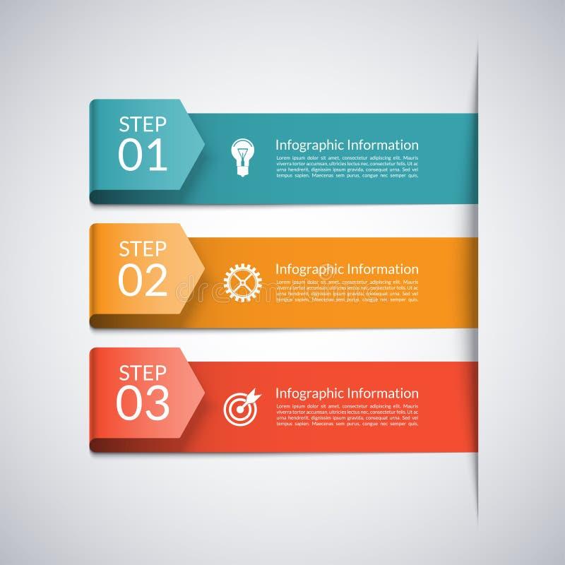 Plantilla moderna de la flecha para el infographics del negocio ilustración del vector