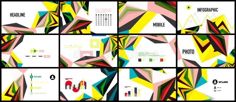 Plantilla moderna de la presentación del triángulo ilustración del vector