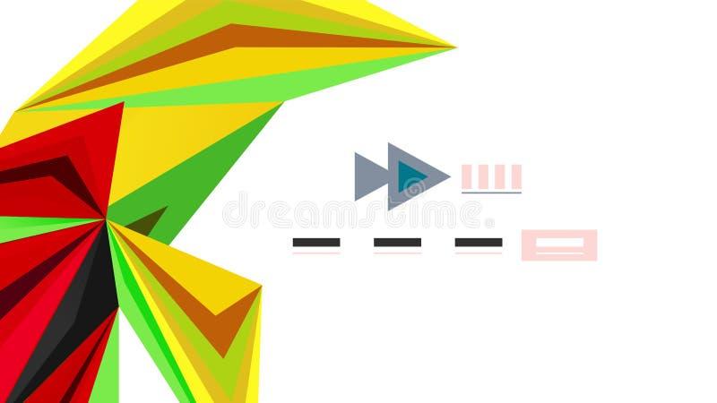 Plantilla moderna de la presentación del triángulo libre illustration