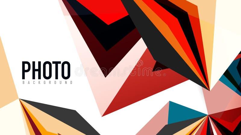 Plantilla moderna de la presentación del triángulo stock de ilustración