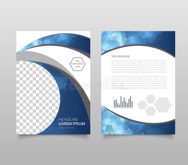 Plantilla moderna de la presentación del triángulo Concepto del fondo, del folleto o del aviador del diseño de negocio stock de ilustración